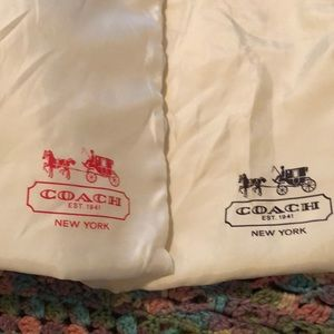 Coach dust cover bags